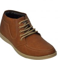 Adjoin Steps Lace Up Casual Shoes(Brown)