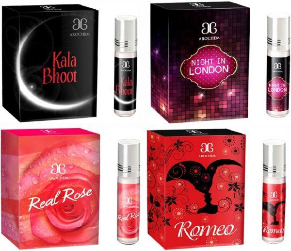 Arochem Romeo Night in london Real rose Kala Bhoot Combo Floral Attar(Rose)