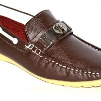 BLK LEATHER Loafers(Brown)