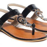 Craze Shop Women Black Sandals