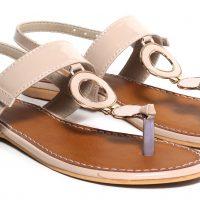 Craze Shop Women Peach Sandals