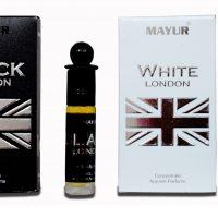 Mayur Black & White London combo Floral Attar(Citrus)