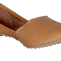 Panahi Camel Synthetic Leather Slip On Jutis Casuals