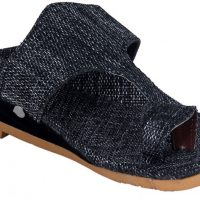 Panahi Grey Jute Rubber Slip On Kolhapuris Casuals