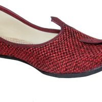 Panahi Maroon Jute Rubber Slip On Jutis Casuals